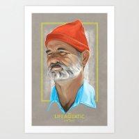 Steve Zissou Life Aquatic  Art Print