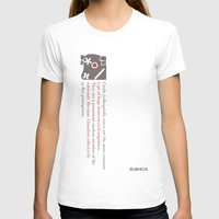 Zelonicus Cow Womens Fitted Tee White SMALL