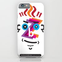 iPhone & iPod Case featuring Type Faces No.2: David Bowie as Aladdin Sane brought to you in the typeface: Futura by Joe Pugilist Design