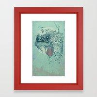 Ghost inside Framed Art Print