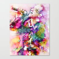 Bono singing Canvas Print