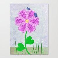 Une Fleur Avec Deux Papi… Canvas Print