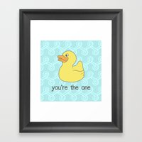 Rubber Duckie Framed Art Print