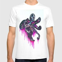 Octopie Mens Fitted Tee White SMALL