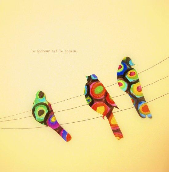 le bonheur est le chemin Art Print