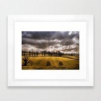 Rain is on it's way Framed Art Print