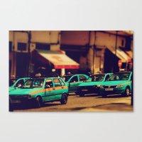 Moroccan Taxi Canvas Print