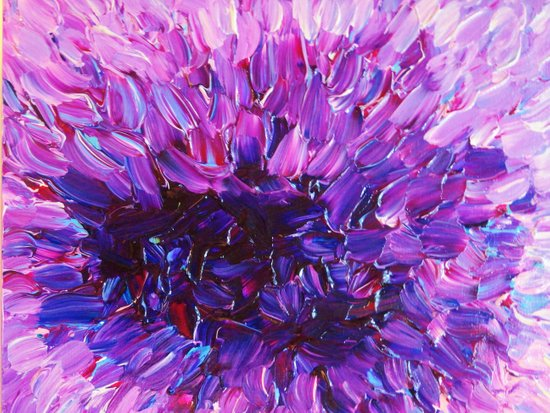 LOTUS BLOSSUM - Beautiful Purple Floral Abstract, Modern Decor in Eggplant Plum Lavender Lilac Art Print