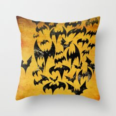 Bats in the Belfry Throw Pillow