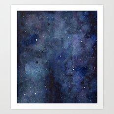 Night Sky Stars Galaxy | Watercolor Art Print