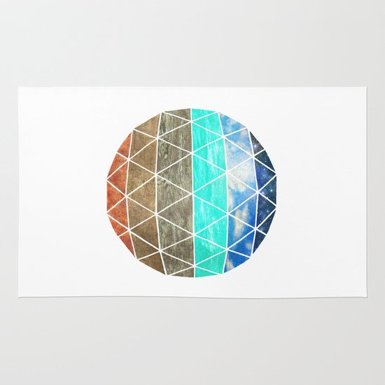 Elemental Geodesic  Area & Throw Rug