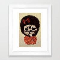 Cat (Pack-a-cat) Framed Art Print