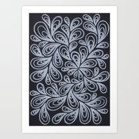 White Drops Art Print
