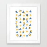 Random Geometric Framed Art Print