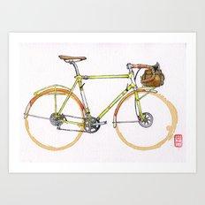 Coffee Wheels #17 Art Print