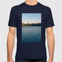 Mountain Lake Mens Fitted Tee Navy SMALL