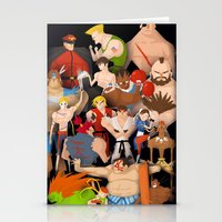 Street Fighter Stationery Cards