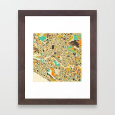 Melbourne Map Framed Art Print
