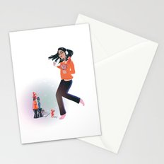 Dancing with Devils (White) Stationery Cards