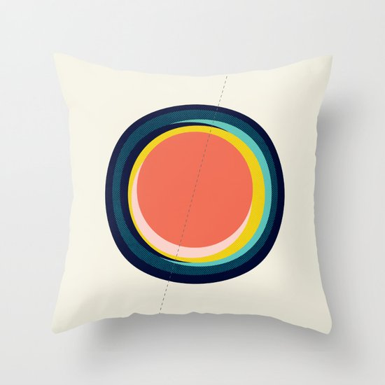 Future Globes 003 — Matthew Korbel-Bowers Throw Pillow