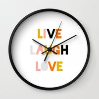 LIVE LAUGH LOVE Wall Clock