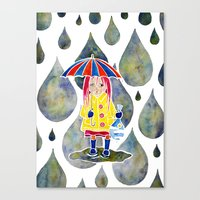 Miranda Holds The Sky In Her Hands Canvas Print