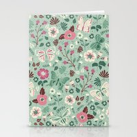 Garden Butterflies  Stationery Cards