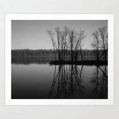 Mississippi mirror Art Print