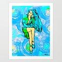 The Girl Who Waited Art Print