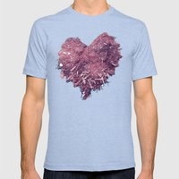 Love Is ..... Everywhere… Mens Fitted Tee Tri-Blue SMALL