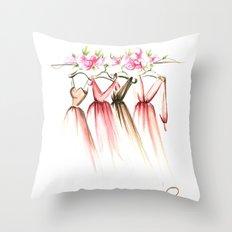Dresses Throw Pillow