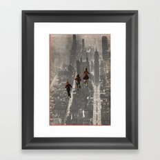 RUN THE TOWN Framed Art Print