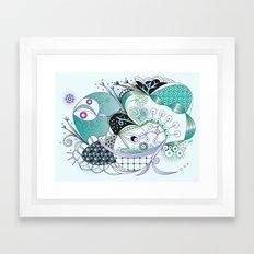 Winter tangle Framed Art Print