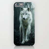 wolf iPhone & iPod Cases featuring Wolf by Julie Hoddinott