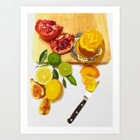 Still Life With Pomegran… Art Print