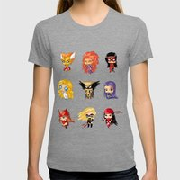 Chibi Heroines Set 3 Womens Fitted Tee Tri-Grey SMALL