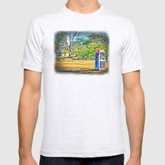 Rural Phone Booth Mens Fitted Tee Ash Grey SMALL