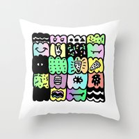 I am a  coloured pattern, pattern Throw Pillow