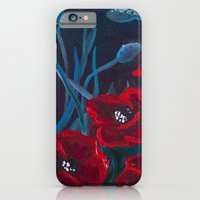 iPhone & iPod Case featuring Crimson Poppies by Charlotte Curtis
