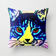 Pop Art Cat No. 2 Throw Pillow