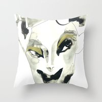 A Faint Smile Throw Pillow