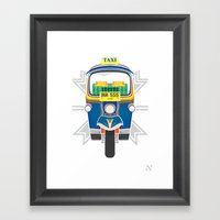 Tuk Tuk Framed Art Print