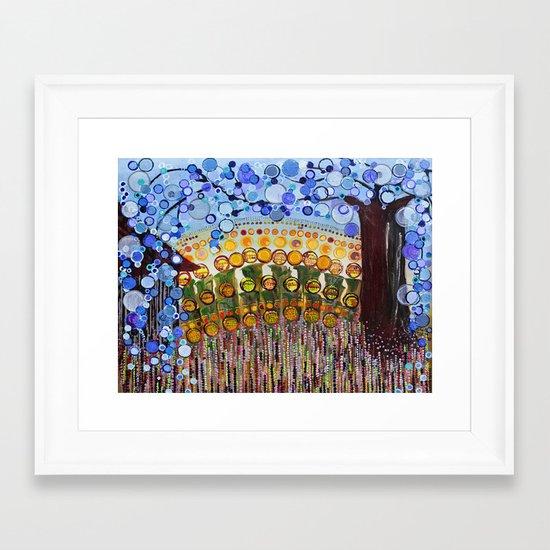 :: Indiana Blue Willow :: Framed Art Print