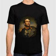 Nicolas Cage - Replacefa… Mens Fitted Tee Black MEDIUM