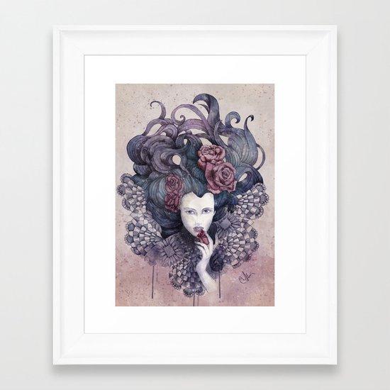 Indigo eyes Framed Art Print