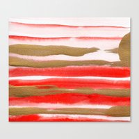 Gold & Apricot Canvas Print