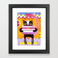 Framed Art Print featuring Present For You by Exit2wonderland