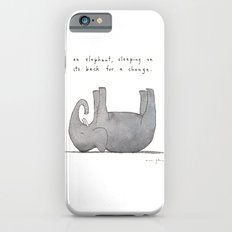 an elephant, sleeping on its back for a change iPhone 6 Slim Case
