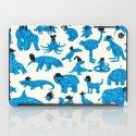 Blue Animals Black Hats iPad Case