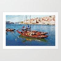 Rabelo Portuguese boat Art Print